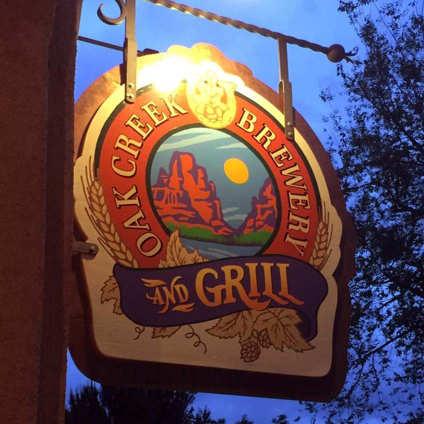 Outside of the Oak Creek Brewery and Grill. Located in Tlaquepaque among the fine art galleries.
